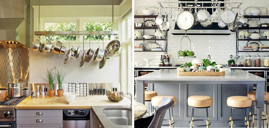 Pot Racks Kitchens