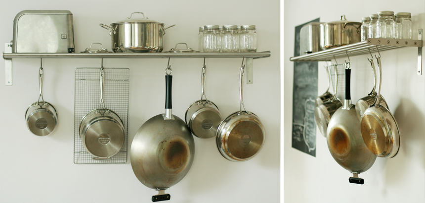 Hanging Pots And Pans On Wall hanging pots and pans | luxe & honey