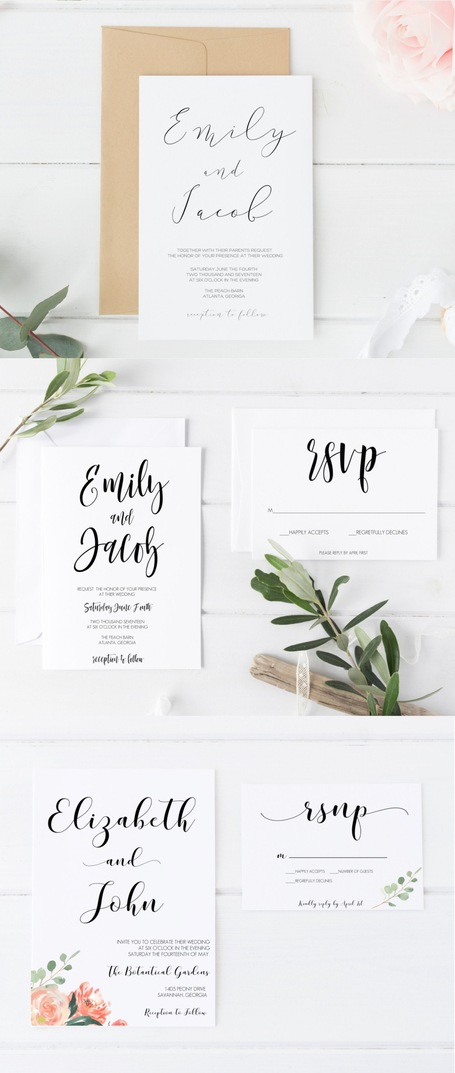 Top 5 Etsy Shops for Wedding Invitations | Luxe & Honey